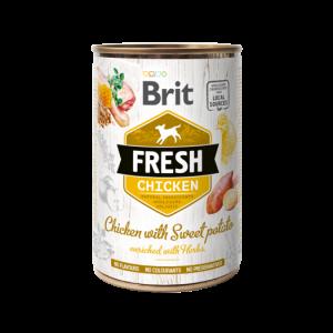 Brit Fresh blik Kip/Zoete Aardappel 400 gr.